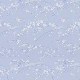 Рулонная штора, Сакура 02 голубой