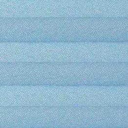 Шторы плиссе, Креп, голубой