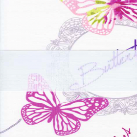 Бабочки, розовый