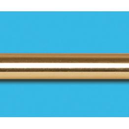 Труба гладкая, золото глянцевое, 16 мм