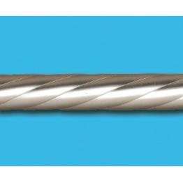 Труба твист, сатин, 25 мм