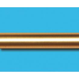 Труба гладкая, золото матовое, 16 мм
