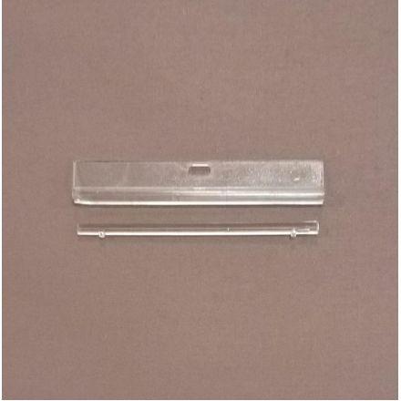 Держатель ламели 89 мм, двусоставной, прозрачный, эконом