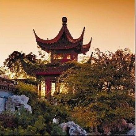 Рулонная штора, Китайский сад