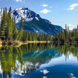 Рулонная штора, Горное озеро